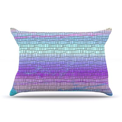 Drip Dye Cool Strid by Nina May Featherweight Pillow Sham Size: King, Fabric: Woven Polyester
