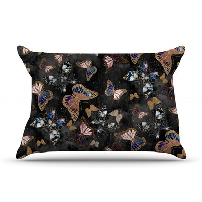 Galactic Butterfly by Nikki Strange Featherweight Pillow Sham Size: Queen, Fabric: Woven Polyester