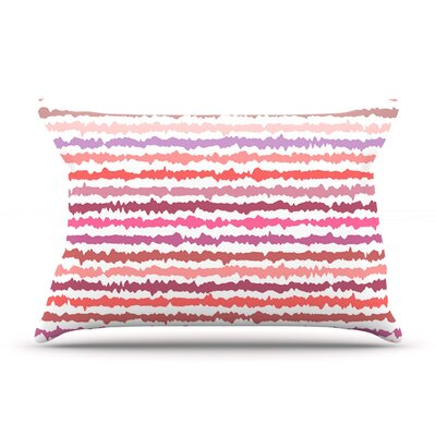 Blush Stripes by Nandita Singh Featherweight Pillow Sham Size: King, Fabric: Cotton
