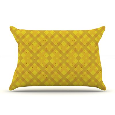 Mydeas Dotted Plaid Geometric Pillow Case