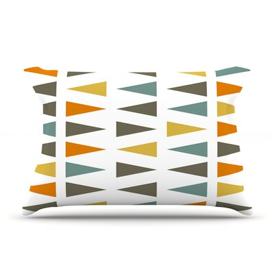 Pellerina Design Stacked Geo Triangles Pillow Case