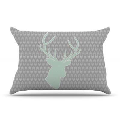 Winter Deer by Pellerina Design Featherweight Pillow Sham Size: King, Fabric: Woven Polyester