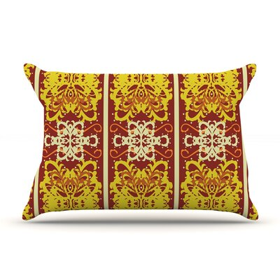 Butterfly Dog Damask by Mydeas Featherweight Pillow Sham Size: Queen, Fabric: Woven Polyester