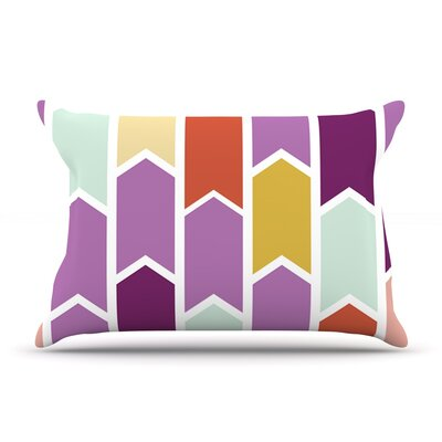 Pellerina Design Orchid Geometric Chevron Purple Arrows Featherweight Sham Size: Queen, Fabric: Woven Polyester