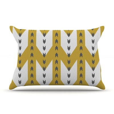 Golden Aztec by Pellerina Design Featherweight Pillow Sham Size: King, Fabric: Woven Polyester