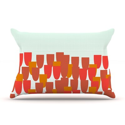 Sunrise Poppies by Pellerina Design Featherweight Pillow Sham Size: Queen, Fabric: Woven Polyester