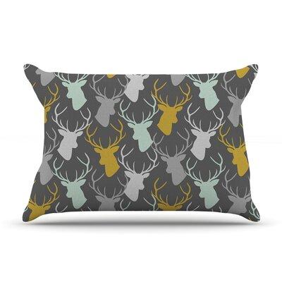 Pellerina Design Scattered Deer Pillow Case Color: Gray