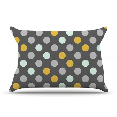 Minty Polka by Pellerina Design Featherweight Pillow Sham Size: King, Fabric: Woven Polyester