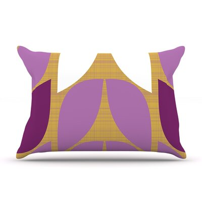 Orchid Petals by Pellerina Design Featherweight Pillow Sham Size: King, Fabric: Woven Polyester