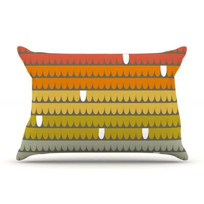 Pellerina Design Scallops Pillow Case Color: Red/Orange