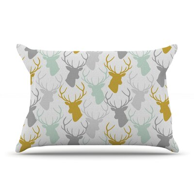 Pellerina Design Scattered Deer Pillow Case Color: White