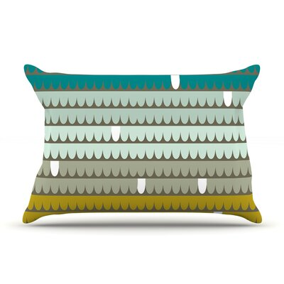 Teal Scallops by Pellerina Design Featherweight Pillow Sham Size: King, Fabric: Woven Polyester