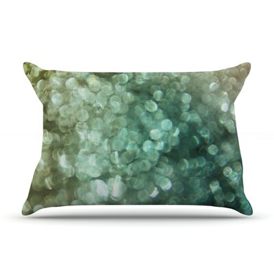 Teal Sparkle by Debbra Obertanec Featherweight Pillow Sham Size: Queen, Fabric: Woven Polyester