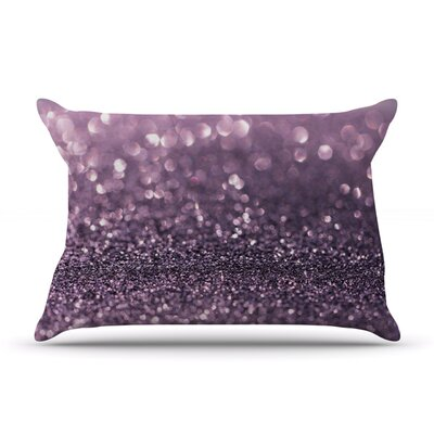 Debbra Obertanec Lavender Sparkle Glitter Pillow Case