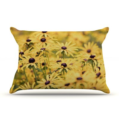 Pantone Yellow by Debbra Obertanec Featherweight Pillow Sham Size: King, Fabric: Woven Polyester