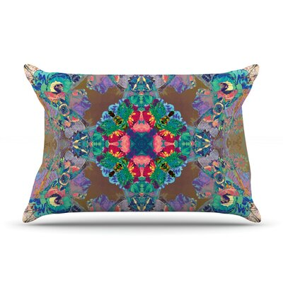 Flowery by Danii Pollehn Featherweight Pillow Sham Size: King, Fabric: Woven Polyester
