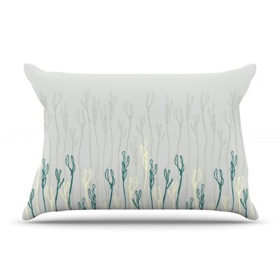 Dainty Shoots by Emma Frances Featherweight Pillow Sham Size: Queen, Fabric: Woven Polyester