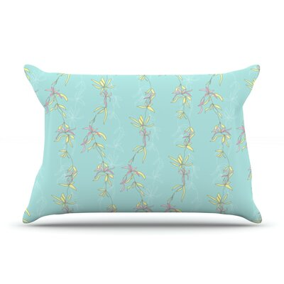 Falling Florals by Emma Frances Featherweight Pillow Sham Size: King, Fabric: Woven Polyester