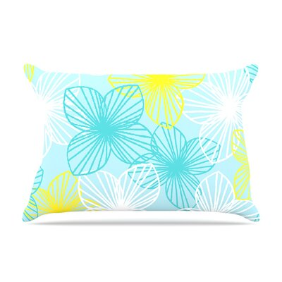 Aqua Sunshine by Emine Ortega Featherweight Pillow Sham Size: Queen, Fabric: Woven Polyester