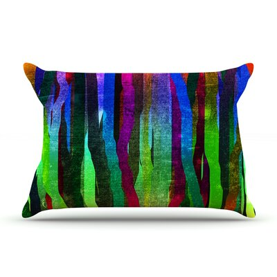 Jungle Stripes by Frederic Levy-Hadida Featherweight Pillow Sham Size: King, Color: Black, Fabric: Woven Polyester