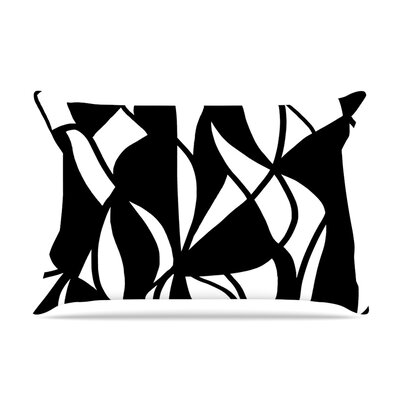 Sinuous by Emine Ortega Featherweight Pillow Sham Size: Queen, Fabric: Woven Polyester