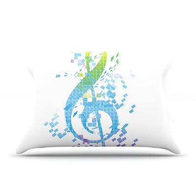 Rainbow Key by Frederic Levy-Hadida Featherweight Pillow Sham Size: King, Fabric: Woven Polyester