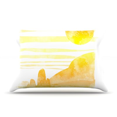 Frederic Levy-Hadida Landscape Painted With Tea Coastal Pillow Case