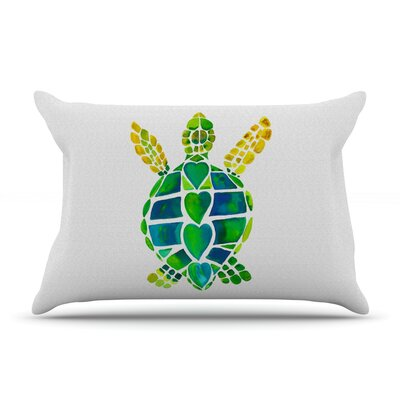 Turtle Love by Catherine Holcombe Featherweight Pillow Sham Size: King, Fabric: Woven Polyester
