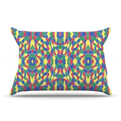 Energy Abstract by Empire Ruhl Featherweight Pillow Sham Size: King, Fabric: Woven Polyester