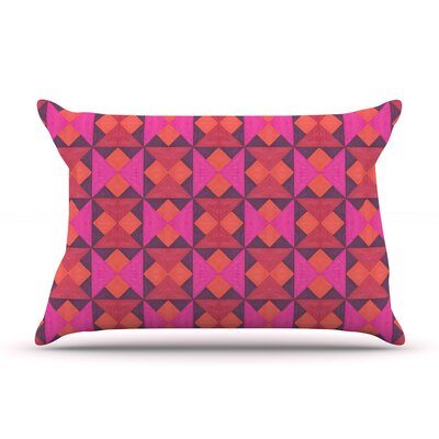 A Quilt Pattern by Empire Ruhl Featherweight Pillow Sham Size: King, Fabric: Woven Polyester