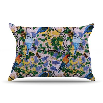 Birds by DLKG Design Featherweight Pillow Sham Size: King, Fabric: Woven Polyester