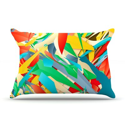 Danny Ivan Soccer Slide Crazy Rainbow Pillow Case