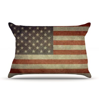 Bruce Stanfield Flag Of Us Retro Rustic Pillow Case