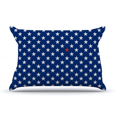 Red Star by Bruce Stanfield Featherweight Pillow Sham Size: Queen, Fabric: Woven Polyester