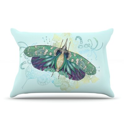 Blue Deco by Catherine Holcombe Featherweight Pillow Sham Size: Queen, Fabric: Woven Polyester