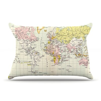 Travel by Catherine Holcombe Featherweight Pillow Sham Size: King, Fabric: Woven Polyester