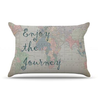 Journey by Catherine Holcombe Featherweight Pillow Sham Size: King, Fabric: Woven Polyester