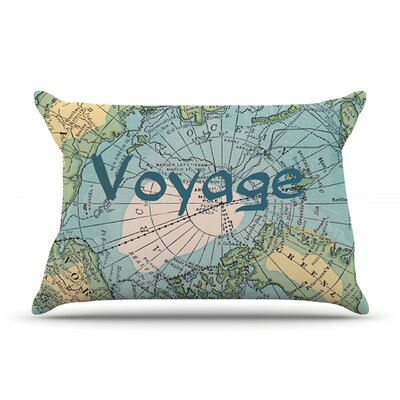 Voyage by Catherine Holcombe Featherweight Pillow Sham Size: Queen, Fabric: Woven Polyester