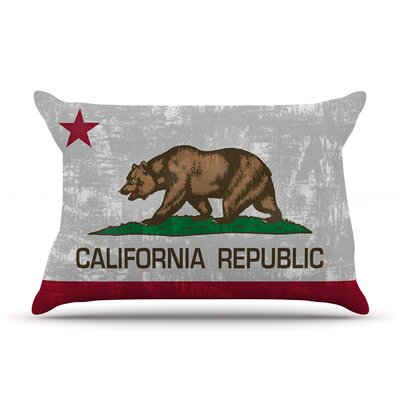 Bruce Stanfield California Flag Pillow Case