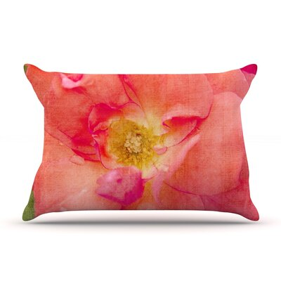 Pink Rose by Catherine McDonald Featherweight Pillow Sham Size: King, Fabric: Woven Polyester