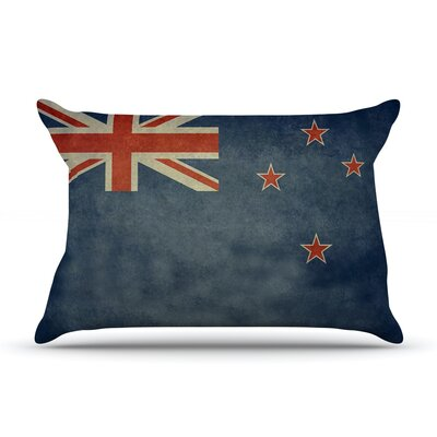 Flag of New Zealand by Bruce Stanfield Featherweight Pillow Sham Size: Queen, Fabric: Woven Polyester
