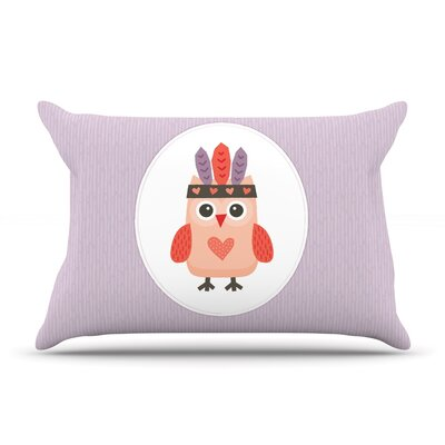 Hipster Owlet by Daisy Beatrice Featherweight Pillow Sham Size: Queen, Fabric: Woven Polyester
