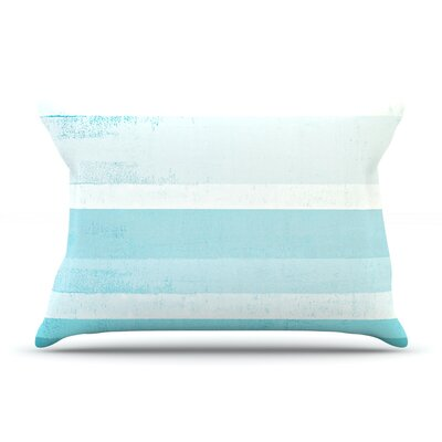 Waves by CarolLynn Tice Featherweight Pillow Sham Size: King, Fabric: Cotton