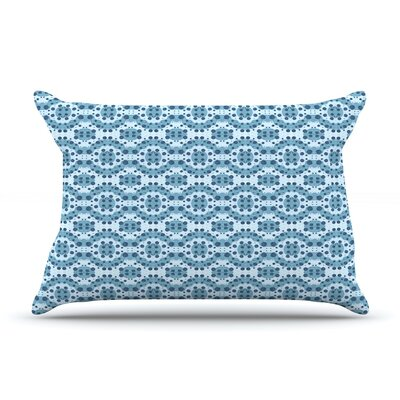 Blue Circle Abstract by Empire Ruhl Featherweight Pillow Sham Size: Queen, Fabric: Woven Polyester