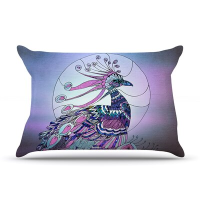 Peacock by Catherine Holcombe Featherweight Pillow Sham Size: King, Fabric: Woven Polyester