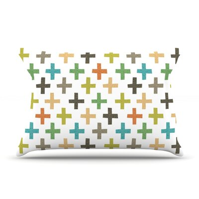 Hipster Crosses Repeat by Daisy Beatrice Featherweight Pillow Sham Size: King, Fabric: Woven Polyester