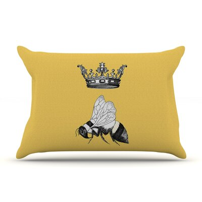 Queen Bee by Catherine Holcombe Featherweight Pillow Sham Size: King, Fabric: Woven Polyester