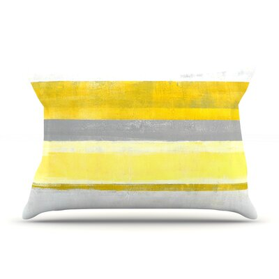 Lemon by CarolLynn Tice Featherweight Pillow Sham Size: King, Fabric: Woven Polyester
