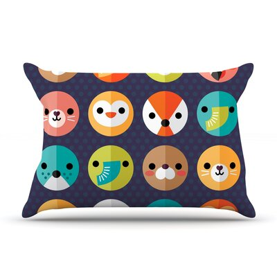 Smiley Faces by Daisy Beatrice Featherweight Pillow Sham Size: Queen, Fabric: Woven Polyester