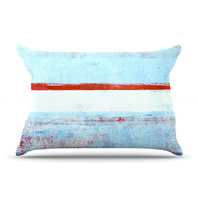 Stripes by CarolLynn Tice Featherweight Pillow Sham Size: King, Fabric: Woven Polyester